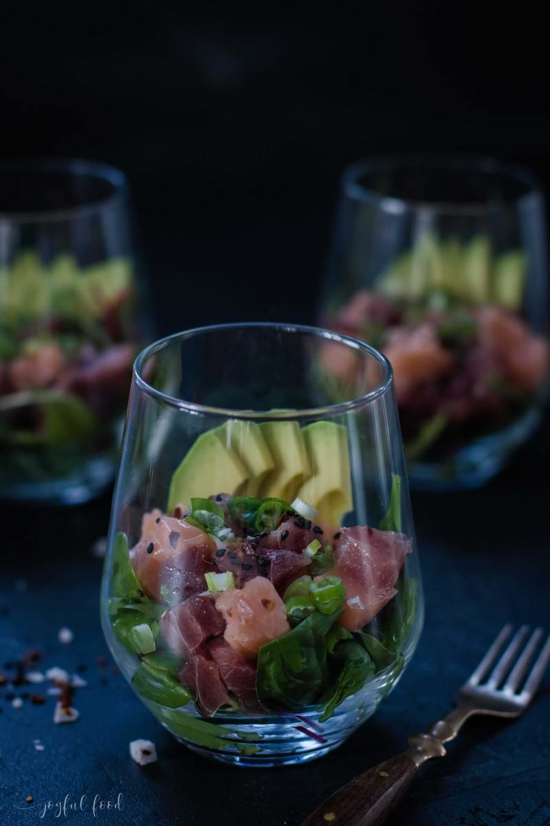 Rezept Exotisches Fisch Poké Bowl Rezept im Glas