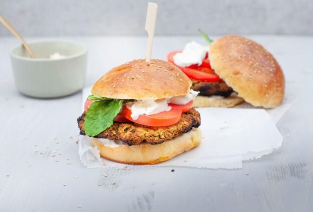 Rezept Falafel-Burger vom Grill