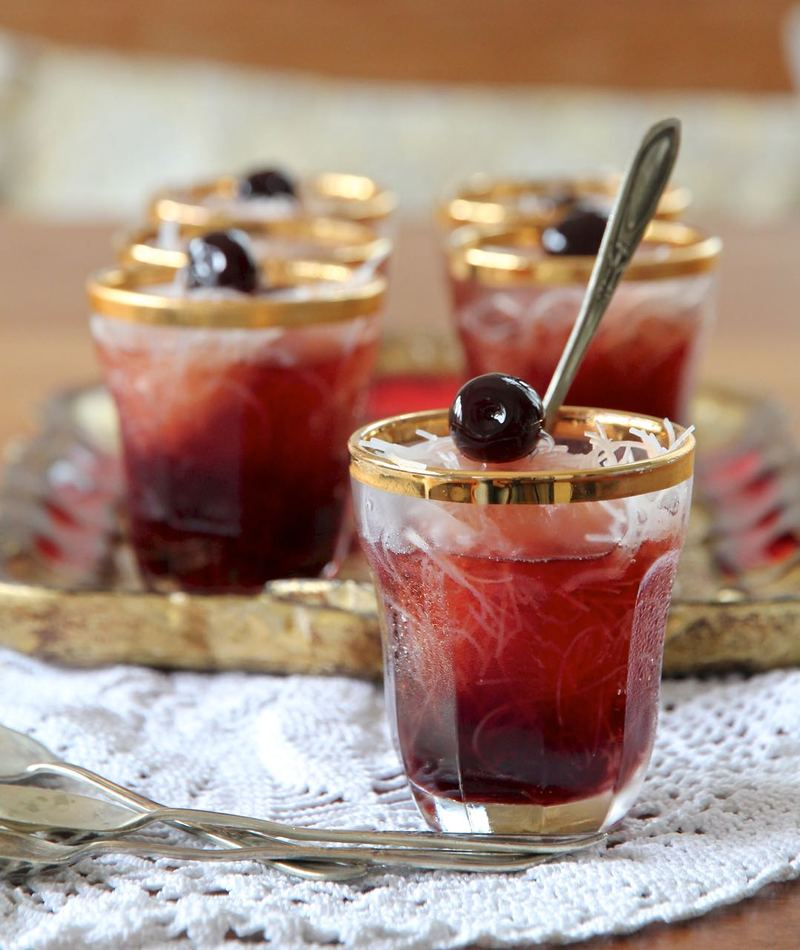 Rezept Faloodeh - Persisches Halb-gefrorenes Dessert