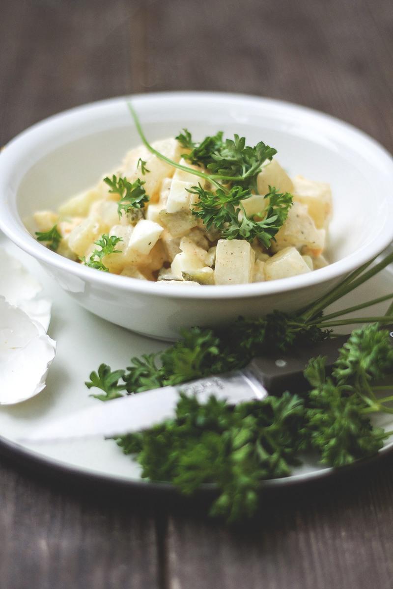 Rezept Falscher Kartoffelsalat | Low-Carb-Kartoffelsalat