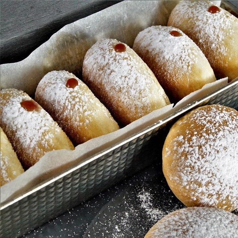 Rezept Faschingskrapfen aus dem Ofen / Ofenkrapfen