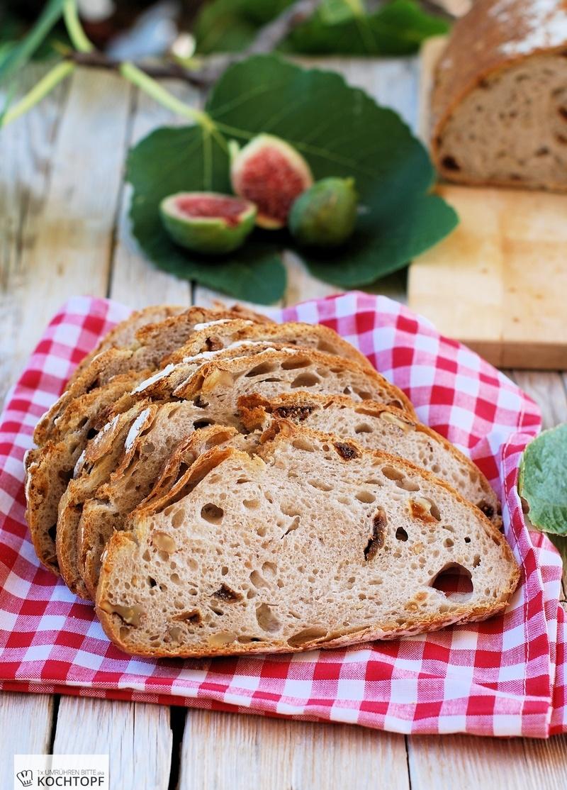 Rezept Feigen-Walnuss-Brot mit Feigen-Hefewasser