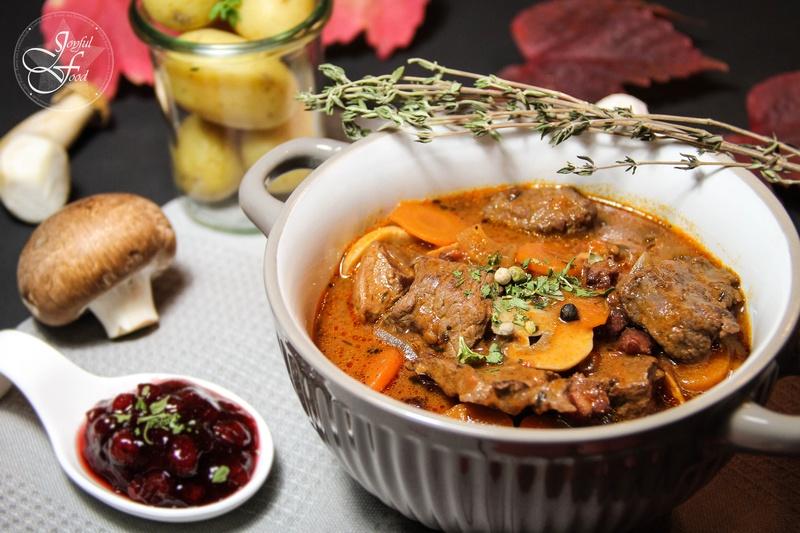 Rezept Feines Ragout vom Rind mit Pilzen
