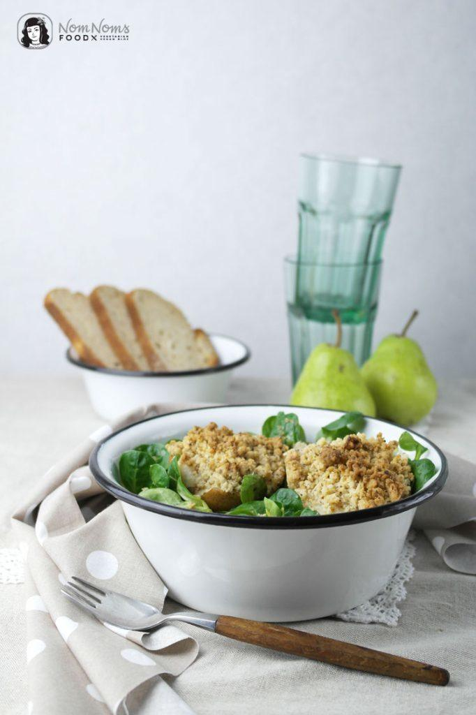 Rezept Feldsalat mit gebackener Birne