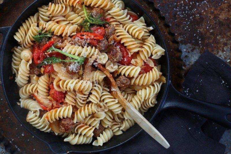 Rezept Fenchel-Pasta mit Hackbällchen und Tomate