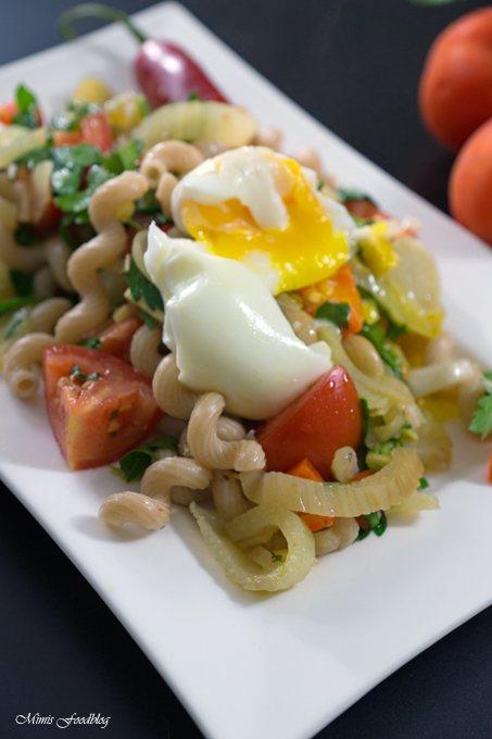 Rezept Fenchel-Pasta Salat mit Chili und Minze ~ Ein fruchtig, frischer Sommergenuss