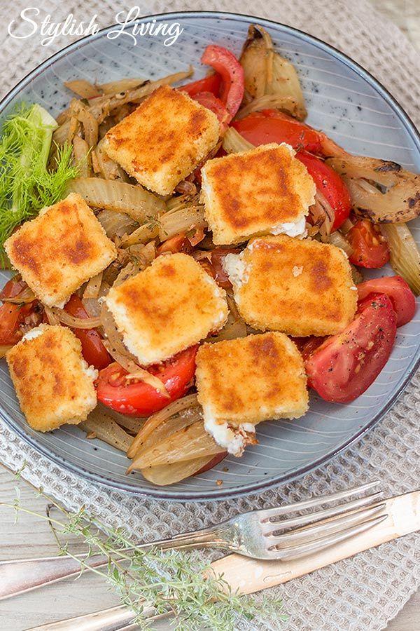 Rezept Fenchelgemüse mit gebratenem Feta und Tomaten