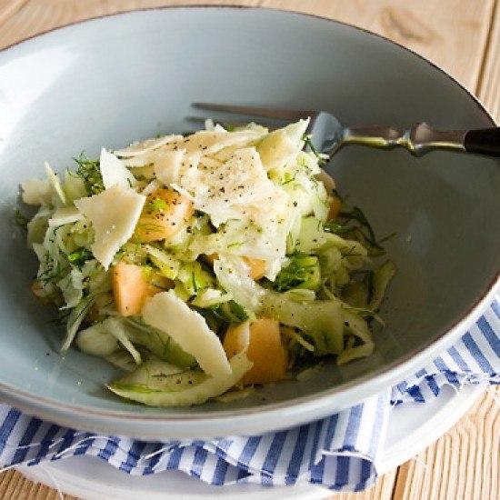 Rezept Fenchelsalat mit Melone