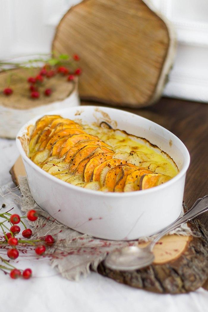 Rezept Festliches Süßkartoffelgratin