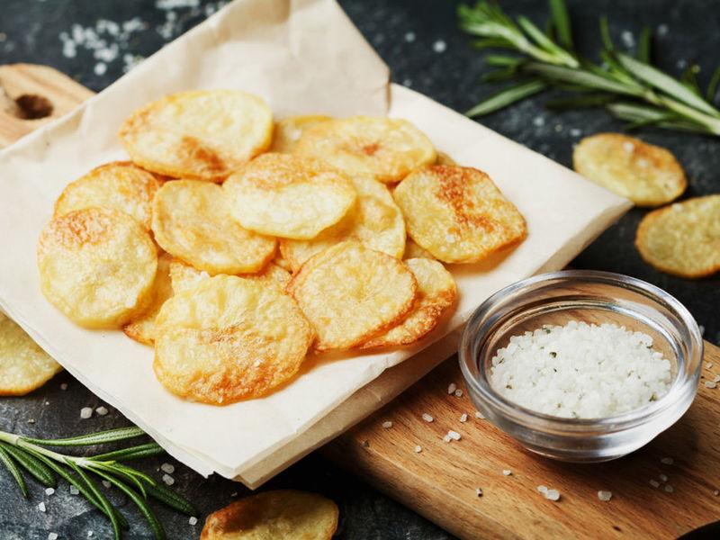 Rezept Fettarme Kartoffelchips selber machen