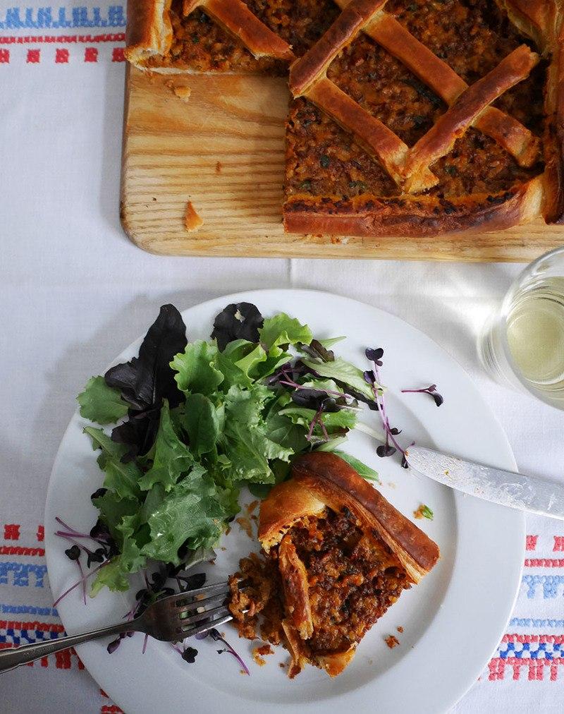 Rezept Finnische Fleisch-Reis-Pastete