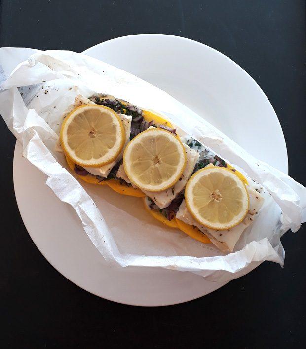 Rezept Fisch auf Zucchinibett