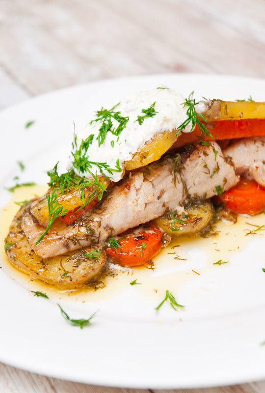 Rezept Fisch in Zitronen-Dill-Soße