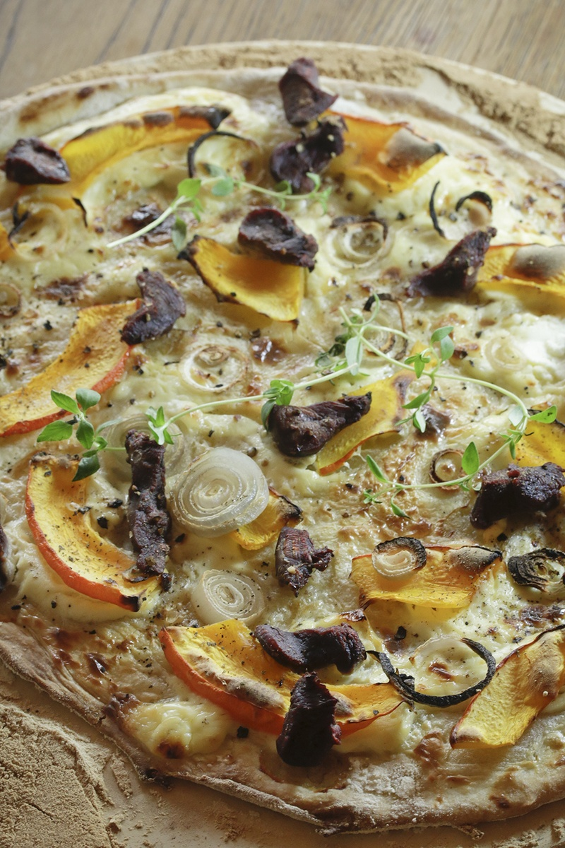 Rezept Flammkuchen mit Filet vom Reh