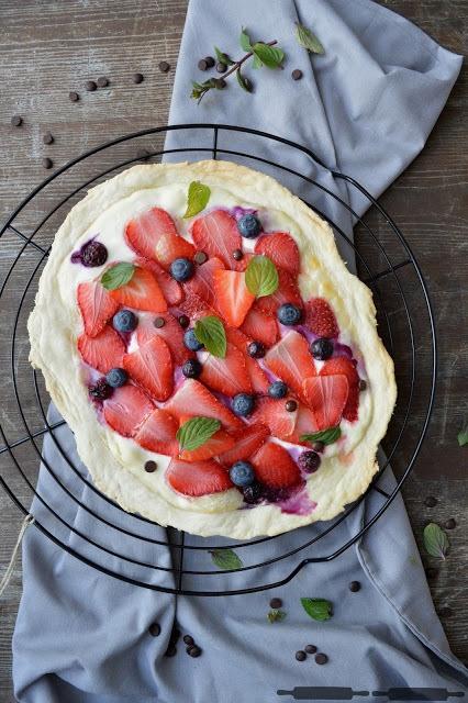 Rezept Flammkuchen mit Früchten