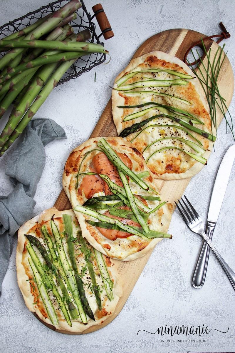 Rezept Flammkuchen mit grünem Spargel