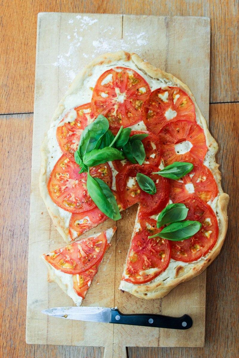 Rezept Flammkuchen mit Tomaten