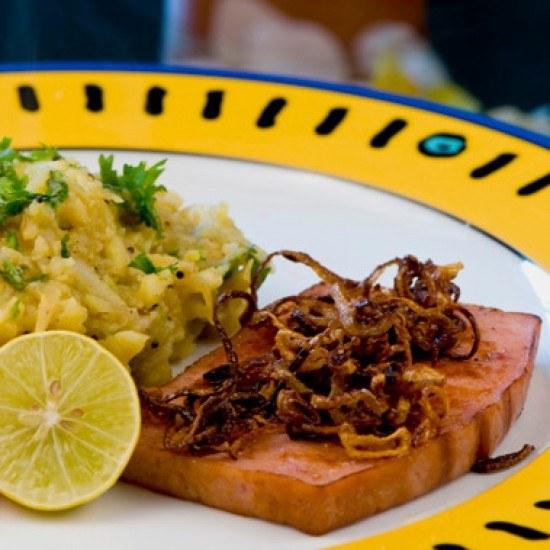 Rezept Fleischkäse mit Potato Masala