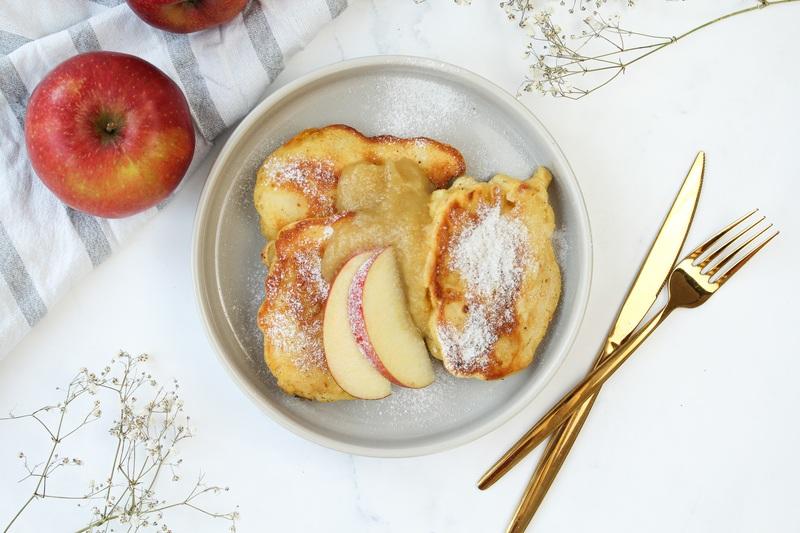 Rezept Fluffige Apfelküchle mit Skyr – ohne Zucker