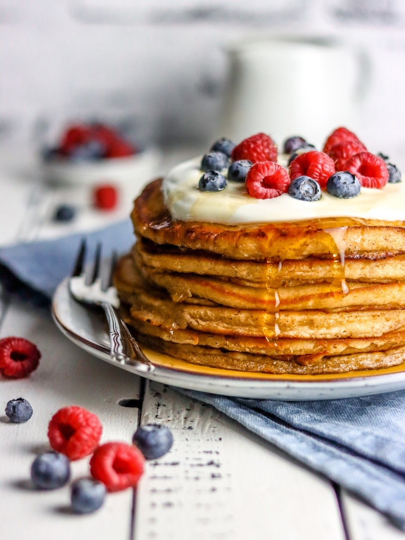 Rezept Fluffige Joghurt-Blaubeer-Pancakes