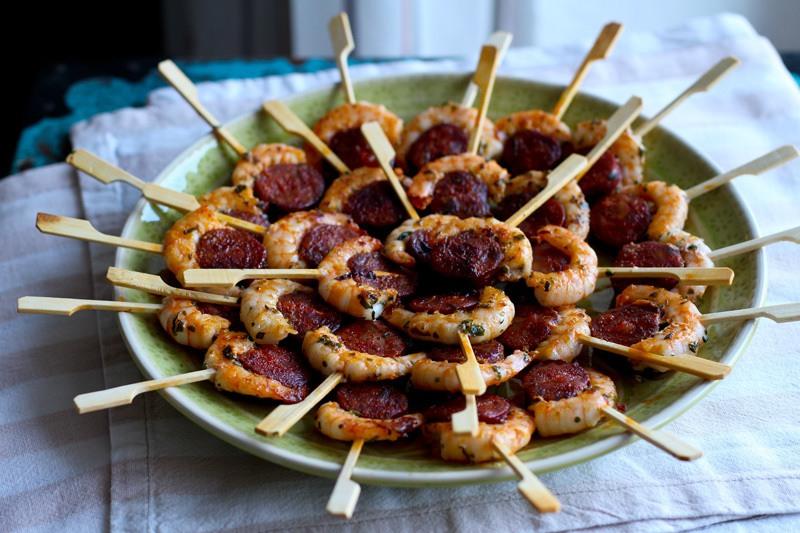 Rezept Foodpops - Chorizo Garnelen Spieße