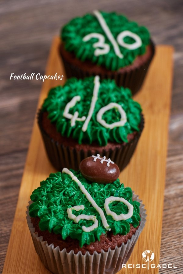 Rezept Football Cupcakes