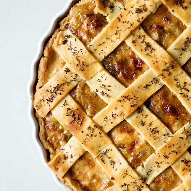 Rezept Französische Hähnchen-Lauch-Pastete - Tourte au poulet