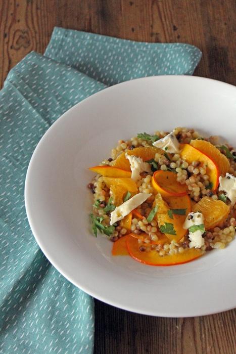 Rezept Fregola Sarda mit Kürbis und Orangen