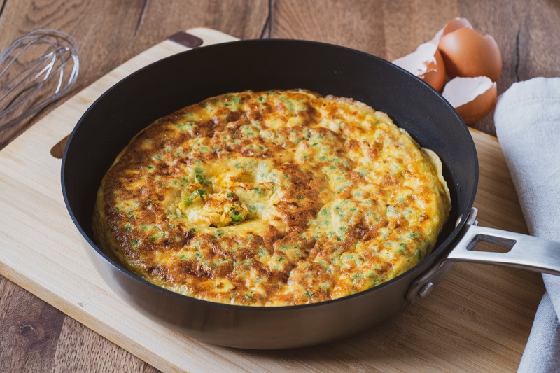 Rezept Frittata con piselli & pecorino - Frittata mit Erbsen & Pecorino