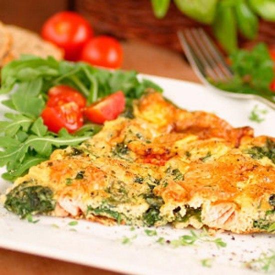 Rezept Frittata mit Lachs und Spinat