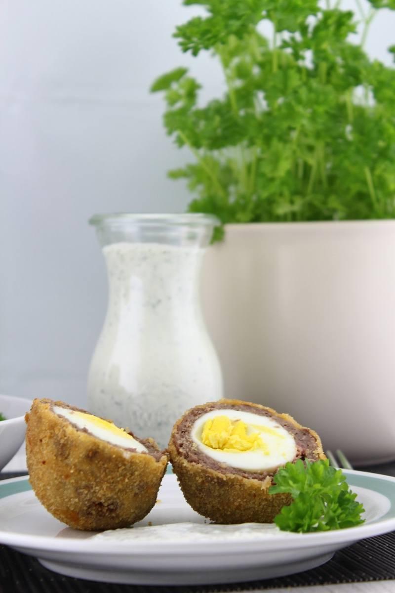Rezept Frittierte Eier mit grüner Sauce