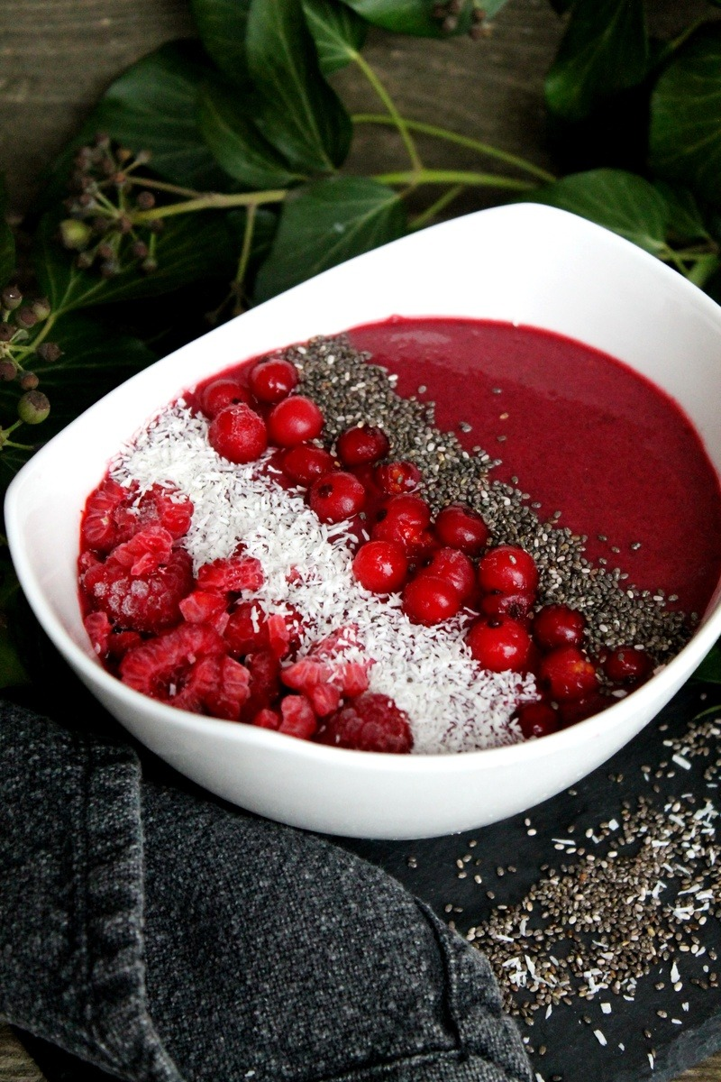Rezept Frozen Berry Smoothie Bowl
