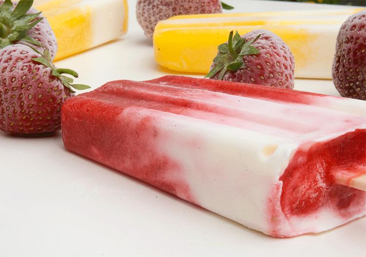 Rezept Frucht-Joghurt-Eis mit Frischkäse