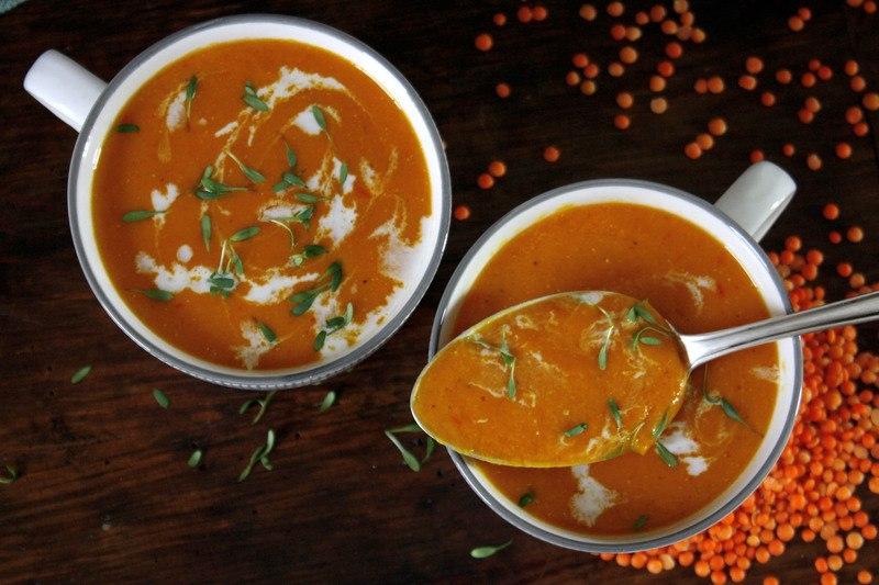 Rezept Fruchtige Orangen-Linsen-Suppe
