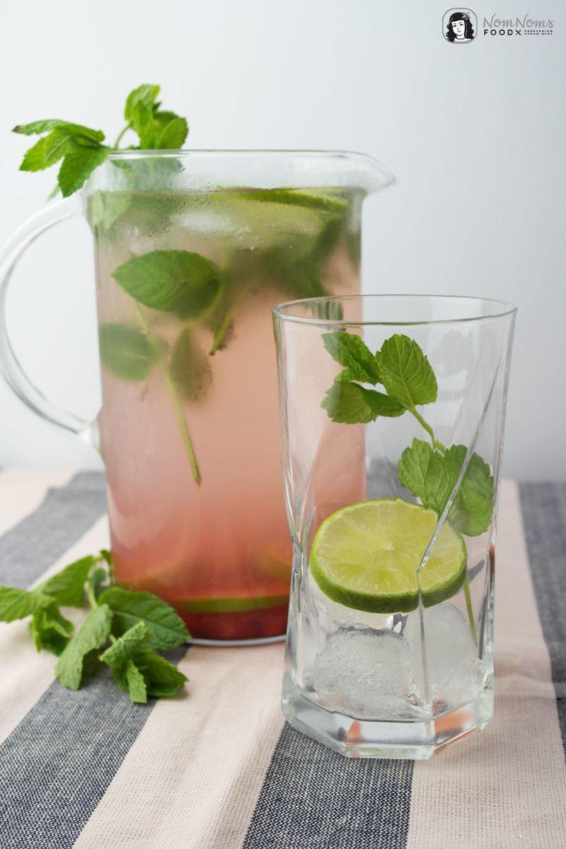 Rezept Fruchtiges Wasser mit Granatapfel, Limette und Minze