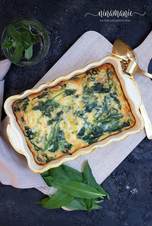 Rezept Frühlings-Frittata mit Spinat und Bärlauch