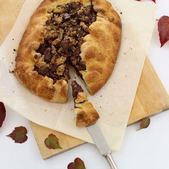 Rezept Galette mit Nashi, Schokolade und karamellisierten Nüssen