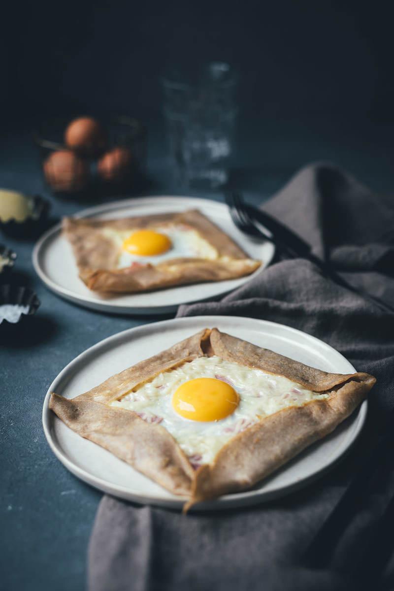 Rezept Galettes Complètes – bretonische Buchweizenpfannkuchen