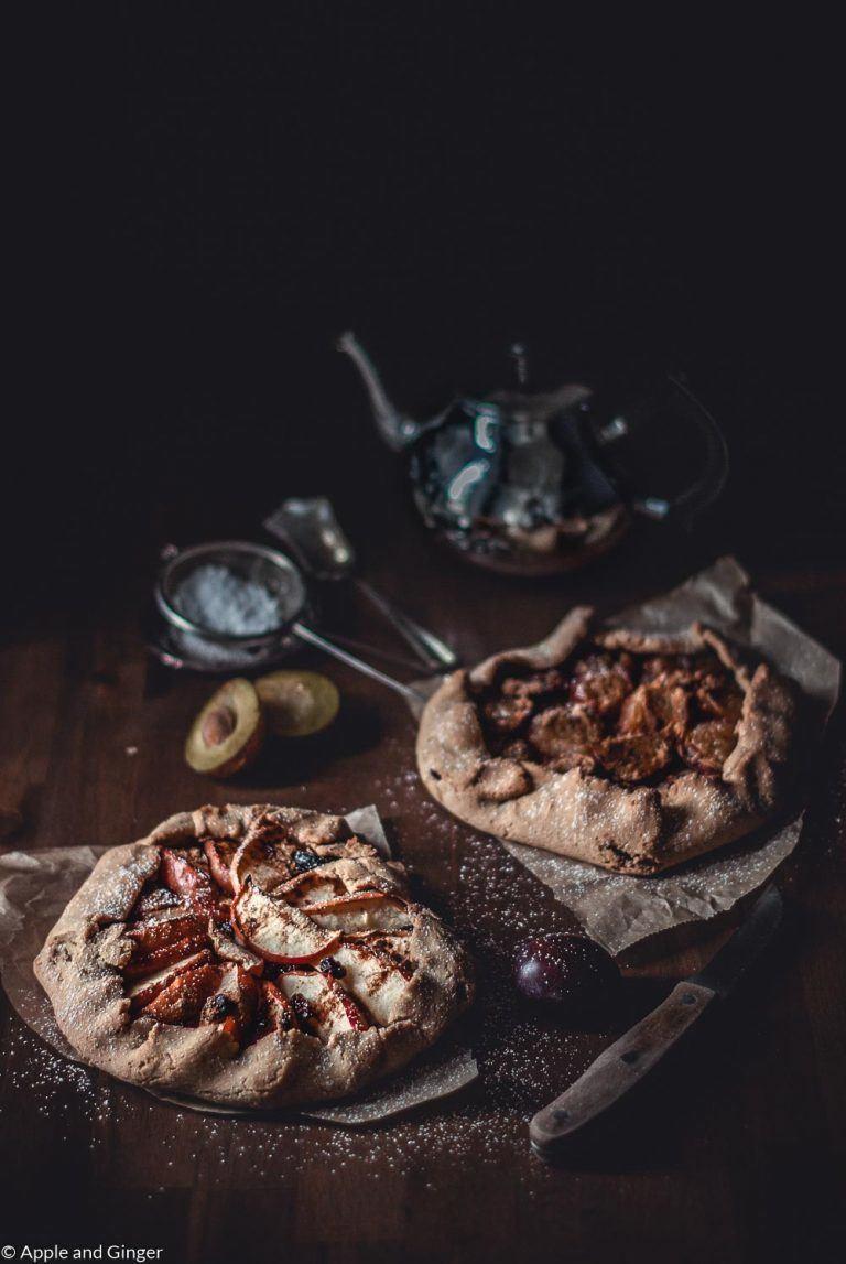 Rezept Galettes mit Zwetschgen und Apfel: zucker- und glutenfrei