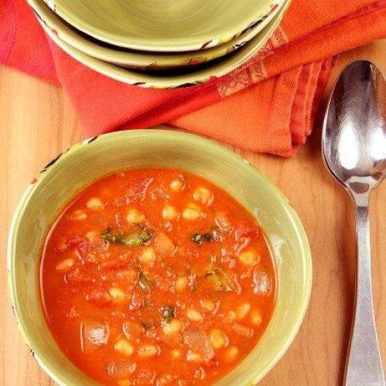 Rezept Garbanzobohnen in scharfer Tomatensosse