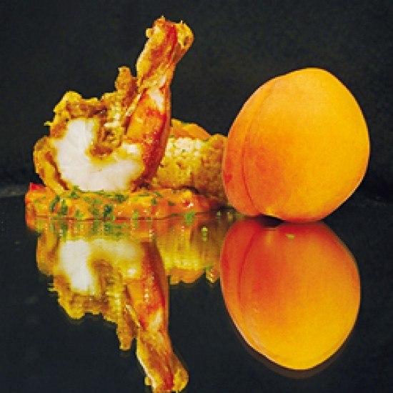 Rezept Garnelen auf Aprikosen-Couscous