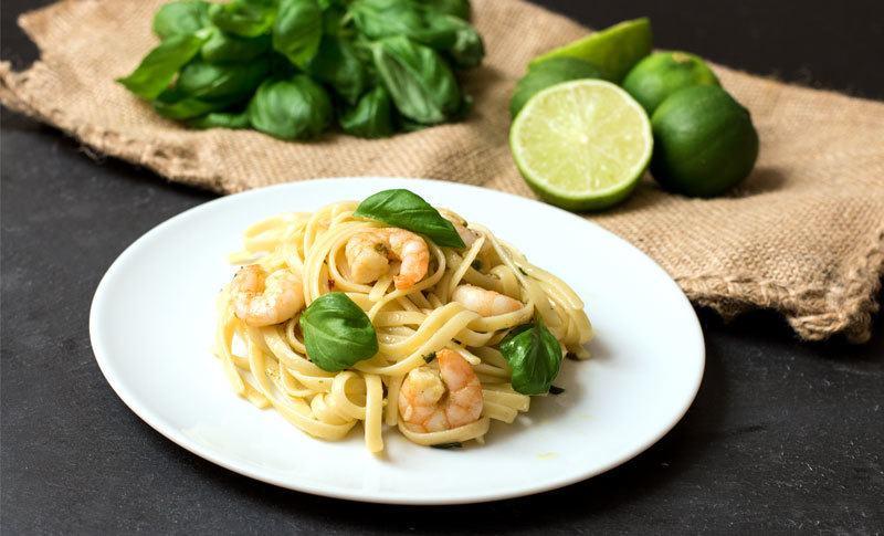 Rezept Garnelen-Pasta aus dem Wok