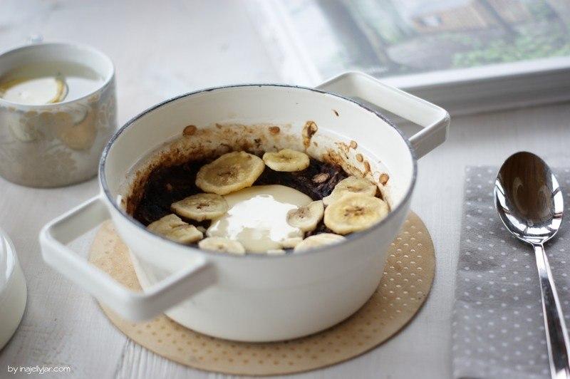 Rezept Gebackener Porridge mit Heidelbeeren