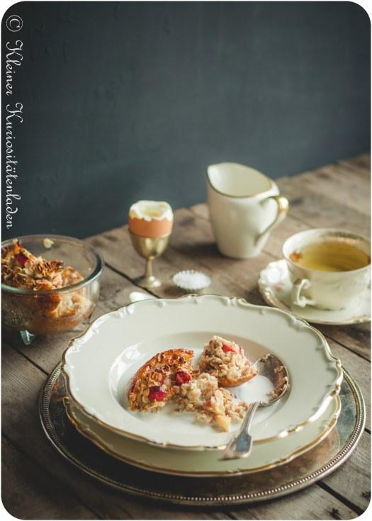 Rezept Gebackenes Apfel-Cranberry-Müsli