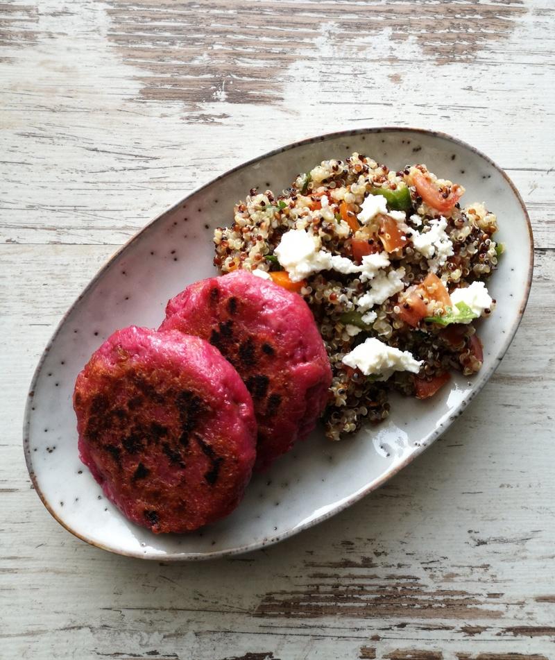 Rezept Gebratene Raunaknödel mit lauwarmen Quinoa-Salat