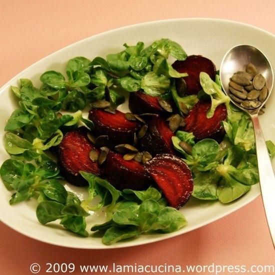 Rezept Gebratene Rote Bete mit Feldsalat