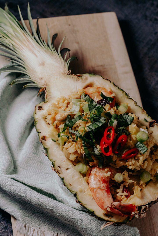 Rezept Gebratener Reis mit Ananas