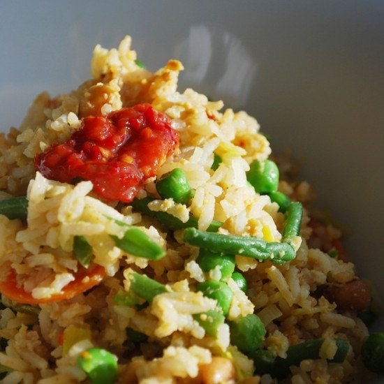 Rezept Gebratener Reis mit Ei & Gemüse
