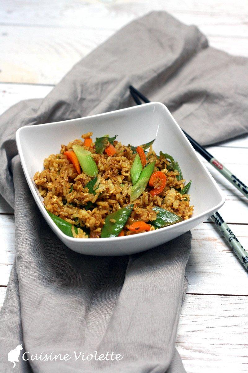 Rezept Gebratener Reis mit Gemüse und Ei