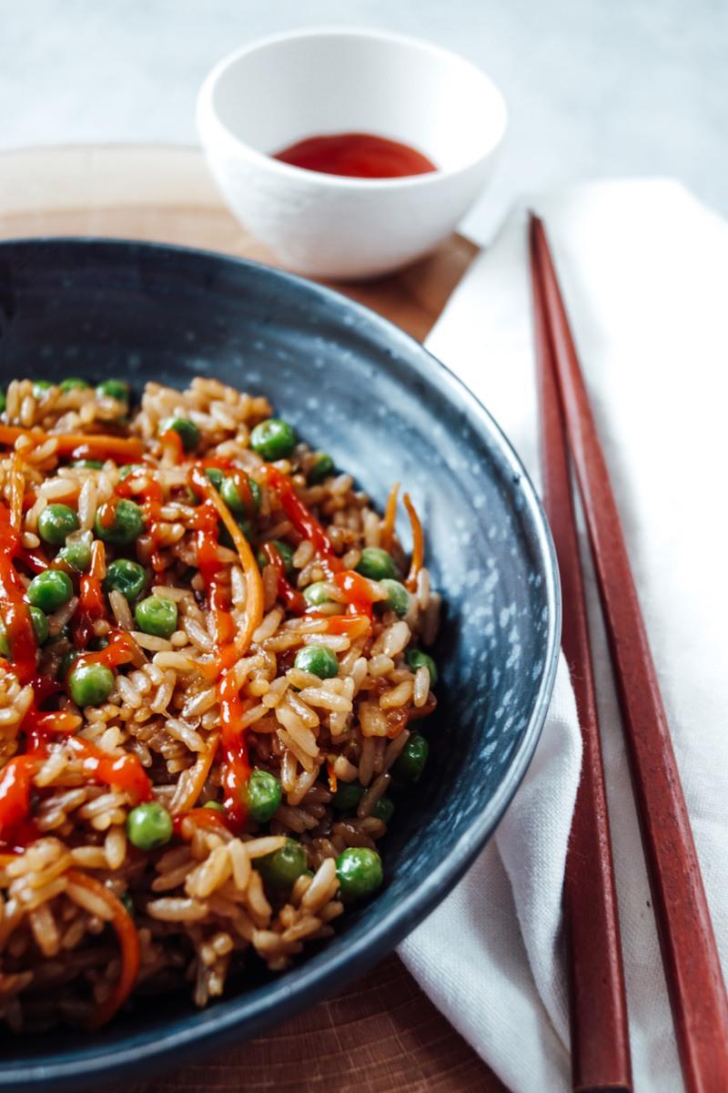 Rezept Gebratener Reis mit Teriyaki Soße